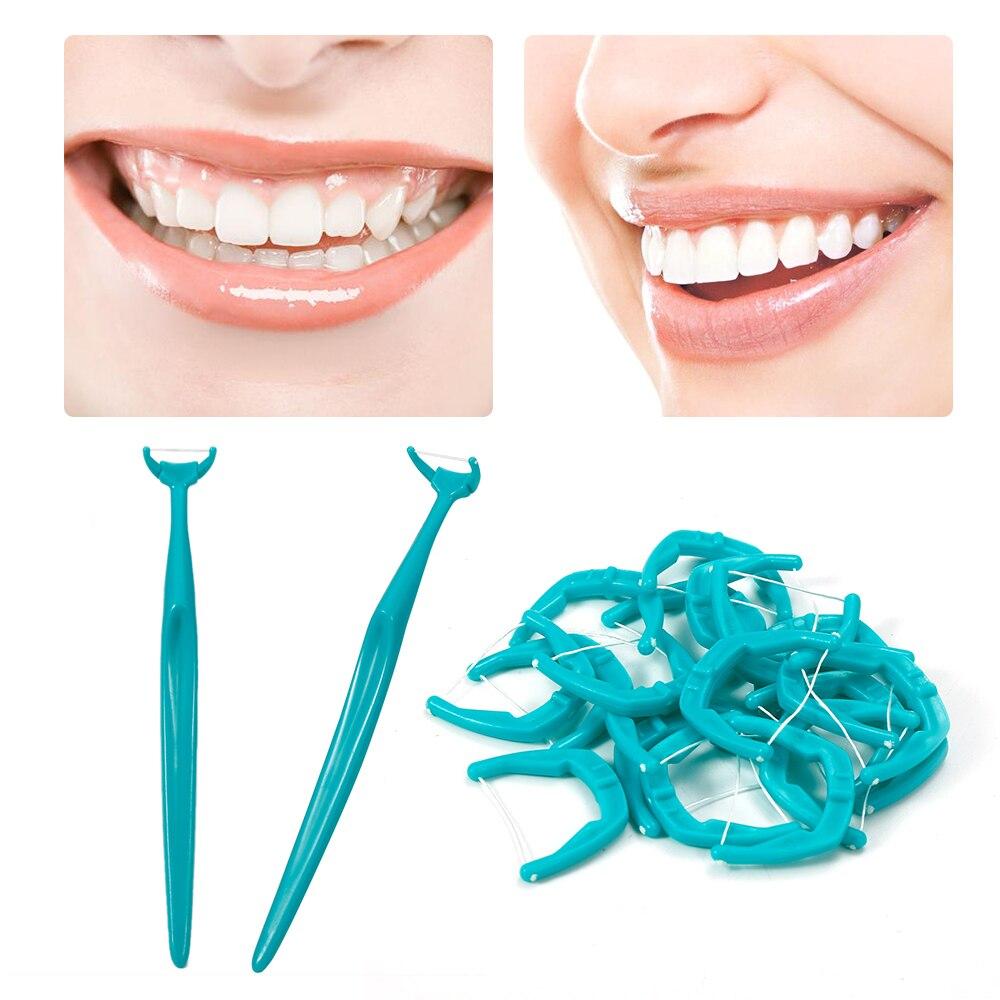 Новые 20 Сменные зубные нити, зубная нить для очистки между зубами, зубная палочка, зубная нить для чистки полости рта, вмятина
