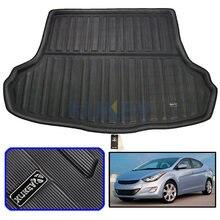 Tapis de sol pour coffre arrière de voiture, accessoires pour Hyundai Elantra Avante i35 Sedan 2011 – 2015, doublure de plateau, 2012 2013 2014
