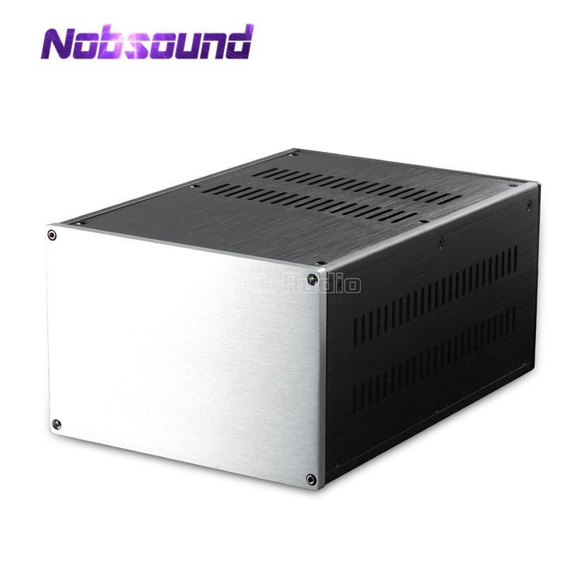 Nobsound Multi Purpose Aluminum Chassis Amplifier Case DIY Rectangle Enclosure