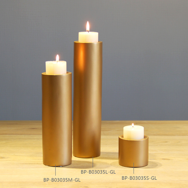 2017 Free Shipping Modern Pillar Candle Holder Polyresin Candle
