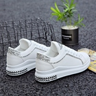 Spring new women shoes lips the increased 4.5 cm walking female shoes white platform sneakers brand basket femme 2018