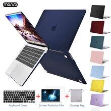 คริสตัล Matte Frosted Case สำหรับ Macbook Air Retina Pro 13 15 พร้อม Touch Bar A1706 A1707 a1990 AIR 13 2018 A1932