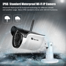Hd 720p HD IP Mini Bullet Camera IP66 Surveillance System Support Motion Detection IR Range 25-35m