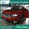 Estilo do carro caso Da Lâmpada de Cabeça para Ford F150 Raptor Faróis LED Farol DRL Lente Feixe Duplo Bi-Xenon HID Acessórios do carro