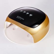52 W הכפול אור UV מנורת LED נייל מנורת אוטומטי חישה נייל מייבש מניקור כלי ריפוי ג ל פולני/60 s/90 s/120 טיימר LCD תצוגה