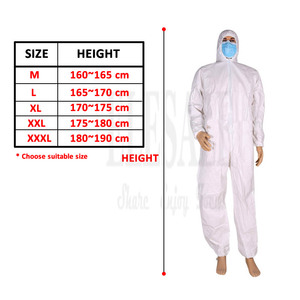 Image 5 - Disposable Waterproof Oil Resistant Protective Coverall For Spary Painting Decorating Clothes Overall Suit L/XL/XXL/XXXL