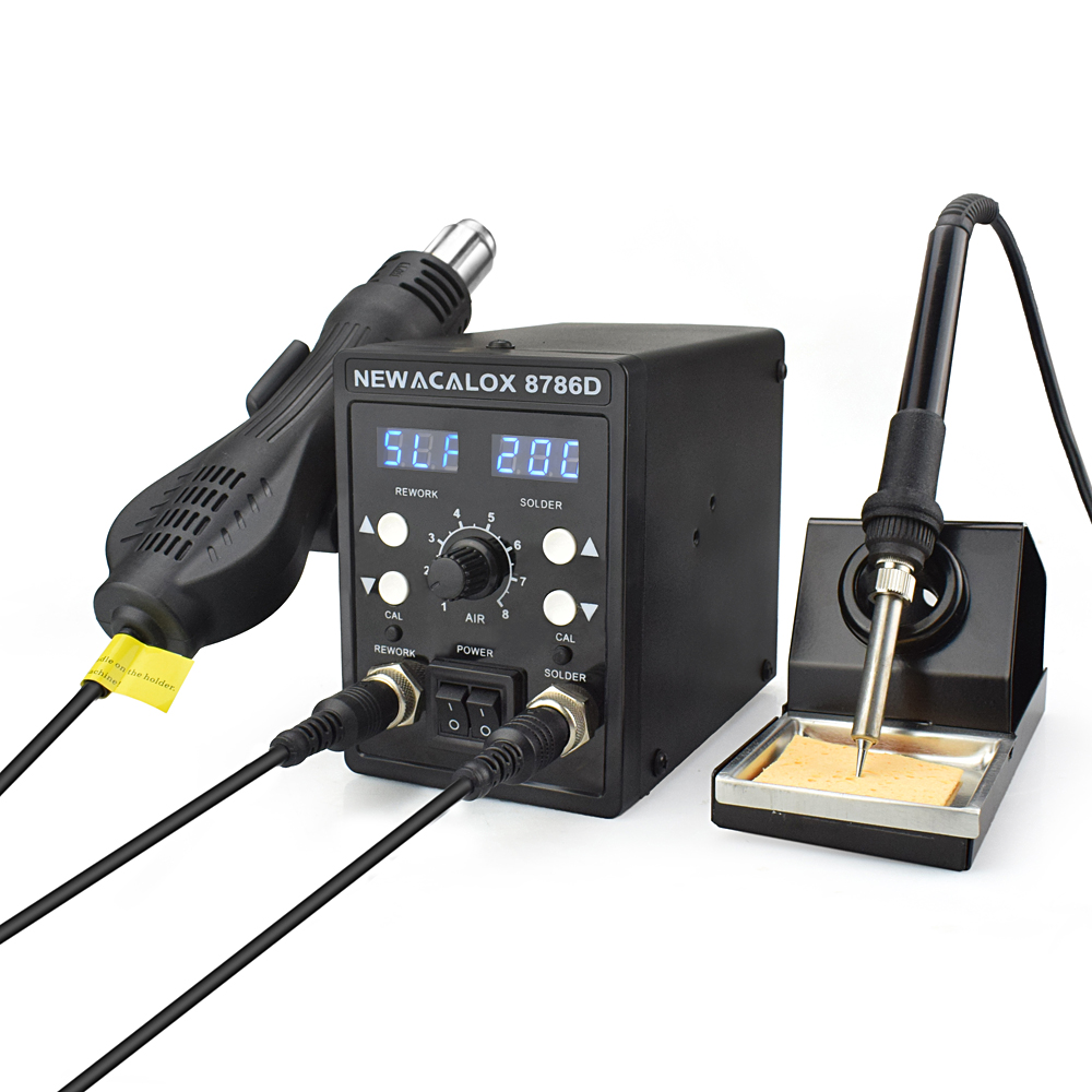 NEWACALOX 8786D Digital Soldering Station for Welding and Hot Contraction Heating 12