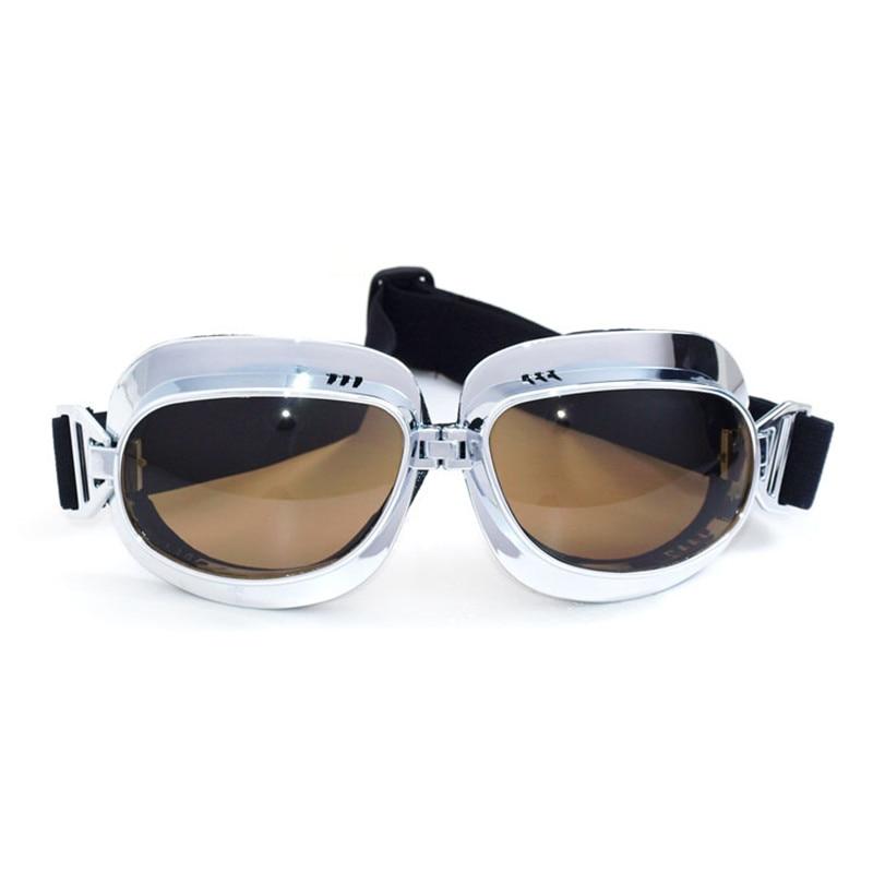 Harley Vintage motorcycle Helmet goggles glass Pilot Motorbike eyewear Retro Jet Helmet protective gear 5 colors lens