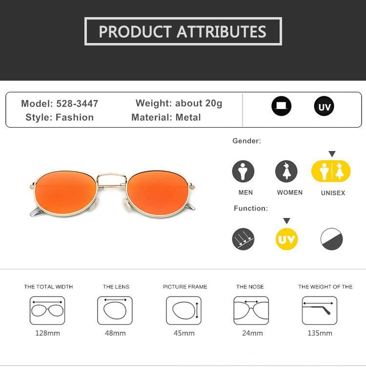 Mirror Round Sunglasses Men Women 6