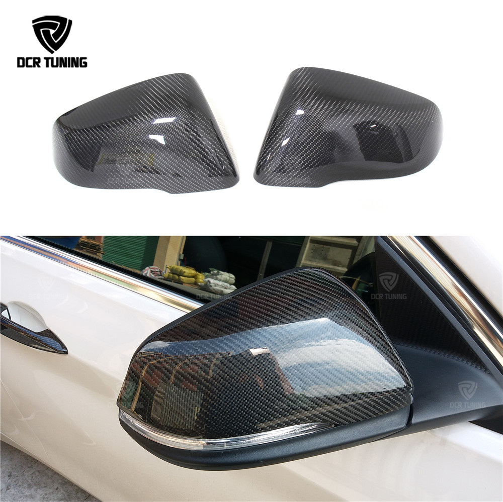 Touring Carbon Fiber Rear View Mirror For BMW 2 Series F45 F46 220i 228i M235i & X Series X1 F48 2014 - UP 2pcs for bmw x1 f48 2016 17 abs matt chrome rear back net frame cover trim auto parts for bmw 2 series 218i f45 f46 car styling