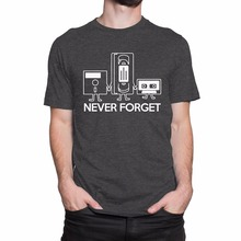 Sale 100% Cotton T Shirt Never Forget MenS Print Haus Short O-Neck Office Tee For Men