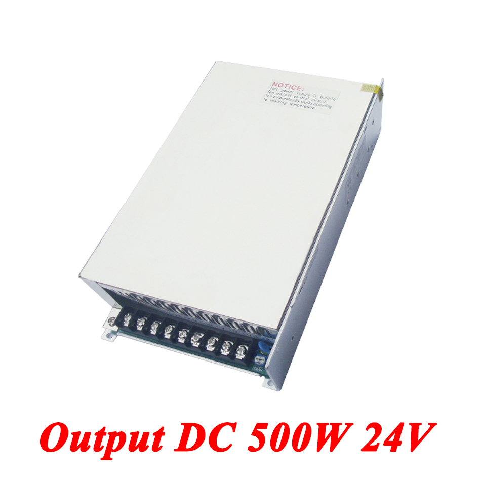 S-500-24 Switching Power Supply 500W 24v 21A,Single Output voltage converter For Led Strip,AC110V/220V Transformer To DC 24V single output dc24v 40a 1000w switching power supply ac dc 24v converter voltage transformer smps for led strip light s 1000 24