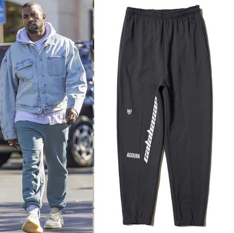 0608f08cb 2019SS new Hip Hop Kanye West Season 5 OVERSIZE Women Men Streetwear  Joggers Sweatpants Calabasas casual