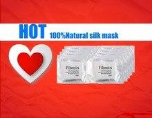 Agua máscara fibroína de seda hidratante / control de aceite / anti-arrugas / blanqueamiento colágeno 10 unids máscara faciales de la máscara