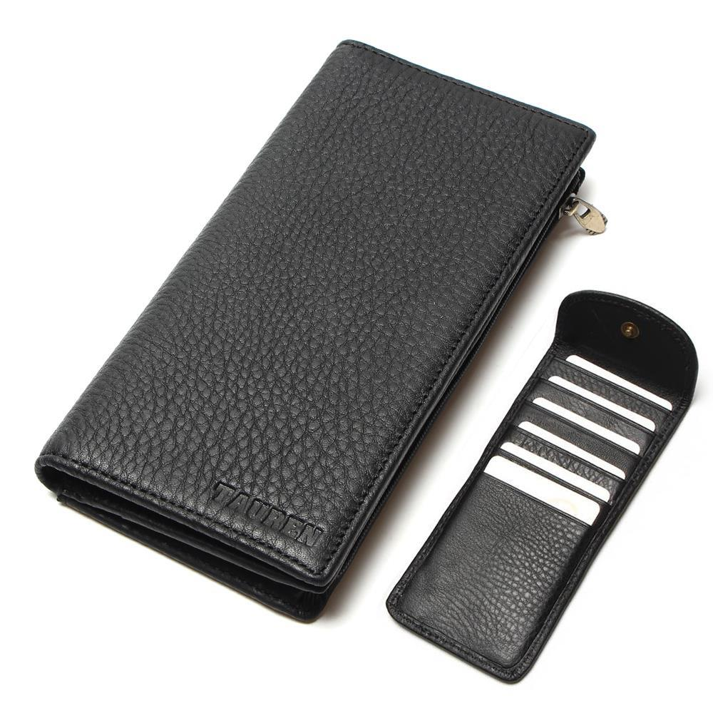 Phone Card Holder >> 100% Real Genuine Leather Purse With Phone Bag Wallet Card ...