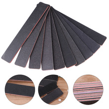 цены 1PC 17.8x2.8x0.4cm Nail Files Sanding 100/180 Square Double Side Nail Art Tips Manicure Tool  Black+Hot pink Color