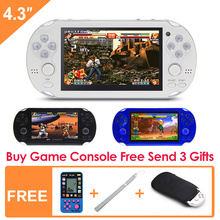 4.3 Inch 8GB Handheld Game Consolebuild in 1200+no-repeat games Video Game Console Support FC/NES/SNES/GB/GBC/GBA/SMC/SMD/S