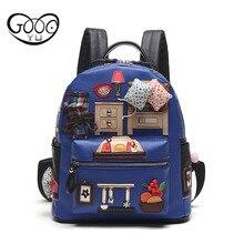 Новый младший школьник сумка Характеристики мультфильм коллаж милые щедрый тенденции моды рюкзак