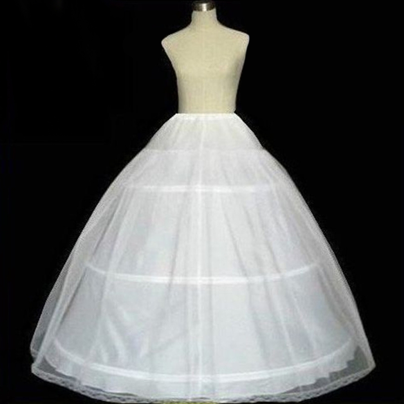 3 Hoops Bridal Crinolines Petticoat Bustle Ball Gown Wedding Dress Underskirt