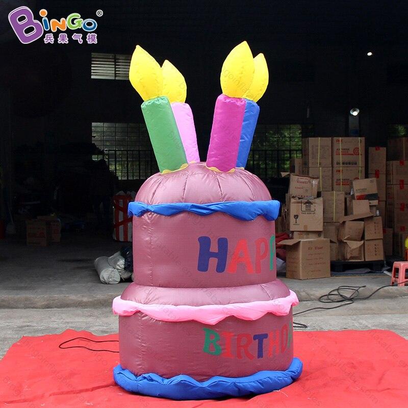Sortie d'usine logo personnalisé 2 m/7ft grand gâteau au chocolat gonflable pour gâteau ou décoration de fête etc/gâteau jouet