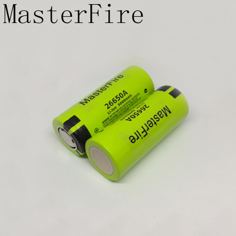 MasterFire New Genuine Battery For Panasonic <font><b>26650A</b></font> 3.7V 5000mAh High Capacity 26650 Li-ion Rechargeable Batteries image