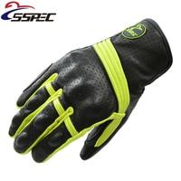 2017 Motorcycle Gloves Men Goatskin Leather Glove Full Finger Luvas Retro Motorcycle Gloves Motorbike Bicycle Bike