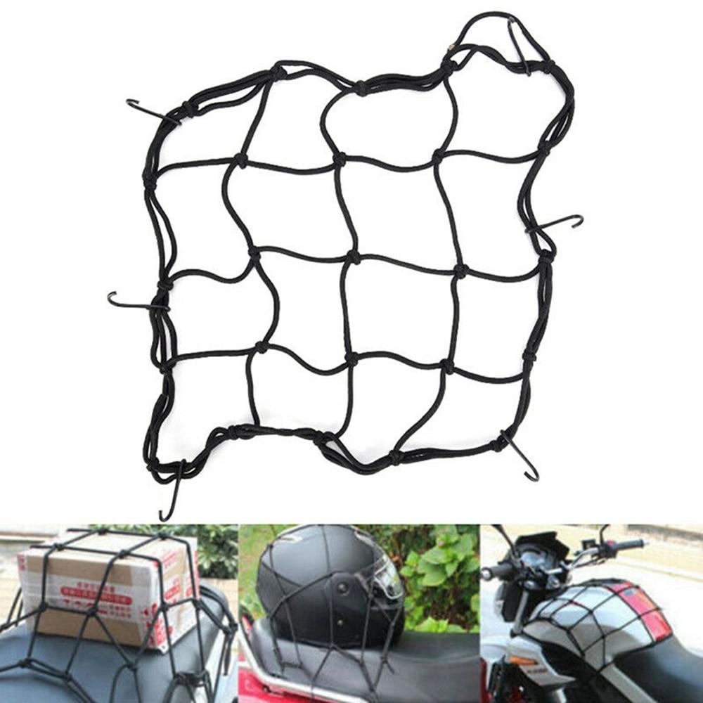 40*40cm 6 Hooks Motorcycle Hold Down Fuel Tank Mesh Net Luggage Helmet Mesh Cargo Net  Bungee Mesh Universal Fast Shipment