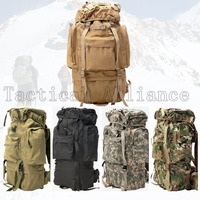 65L Waterproof Large Molle Tactical Men Women Rucksack Backpack Travel Camping Hiking Camouflage Bag Hunting Gear Accessories