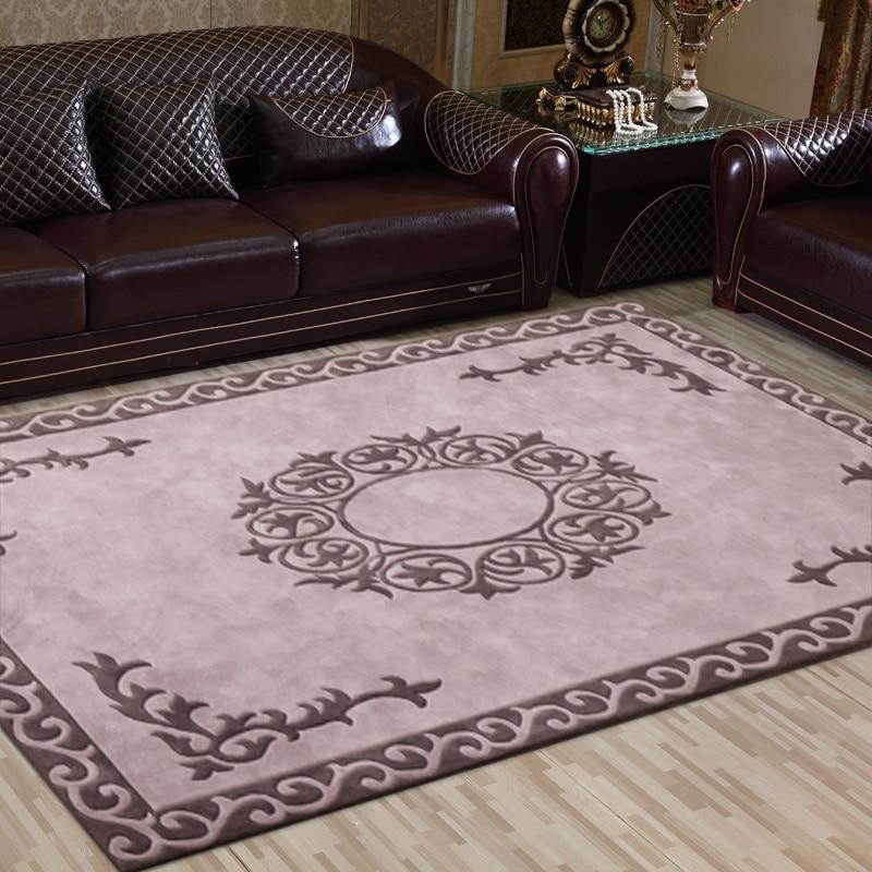 100% pure laine marque tapis salon table basse tapis chambre tapis magasin pour un canapé-lit