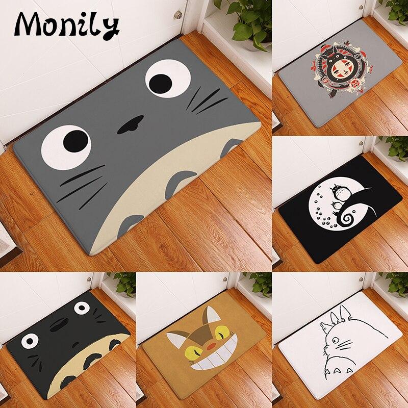 Monily Willkommen Wasserdichte Tür Matte Cartoon Nette Totoro Küche Teppiche Schlafzimmer Teppiche Dekorative Treppen Matten Wohnkultur Handwerk