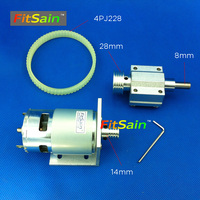 FitSain 775 DC24V 8000RPM Motor Pulley Machine Pulley Bench Mini Lathe Spindle Shaft 8mm