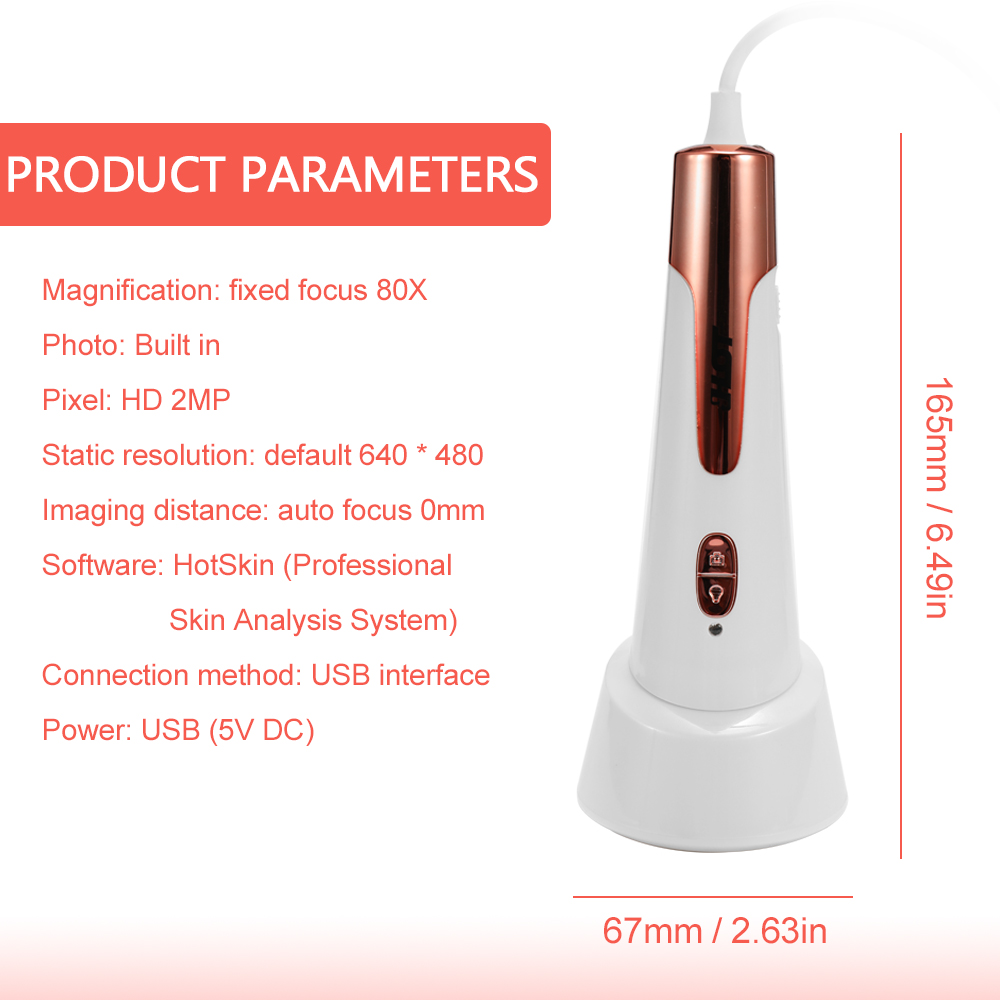 Digital Moisture Monitor Spectrum Automatic Skin Water Oil Content Analyzer Facial Automatic Skin Analying Pen with APP - 5