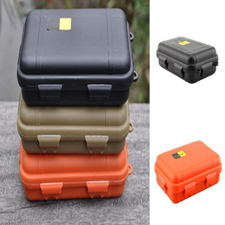Waterproof Box Container Storage Phone-Case Foam-Lining Airtight Survival With Carry-Box
