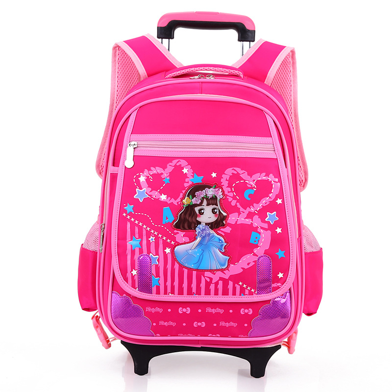 где купить Wheeled School Backpack Wheels Kids Travel Trolley Bag Schoolbag kids Children School Bags girls boys Detachable Mochila Escolar по лучшей цене