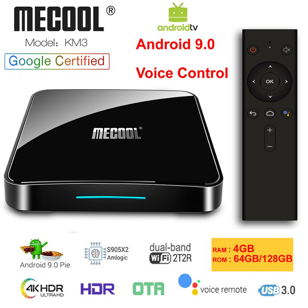 KM3 ATV Google Certified Android 9 0 Smart TV Box Amlogic S905X2 Voice Remote LPDDR4 4GB