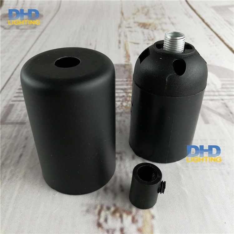 2units/10units free shipping iron sockets E27 lamp fitting white and black colors Edison iron cover with plastic lamp holders