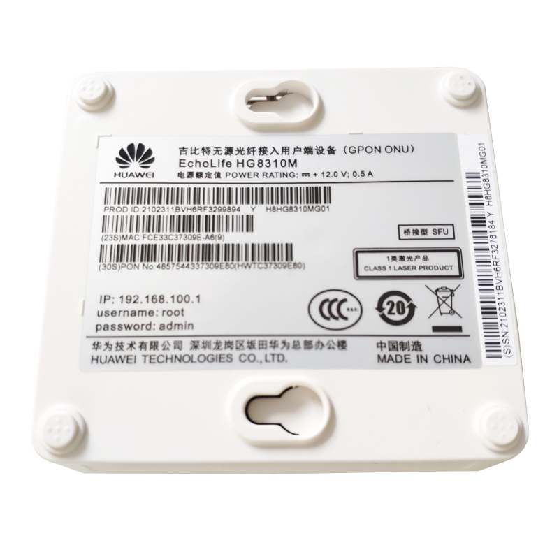 Image 3 - 100% Original New Hua Wei HG8310M GPON ONU ONT With Single Port 1GE Apply to FTTH Modes, SC APC interface English versionFiber Optic Equipments   - AliExpress