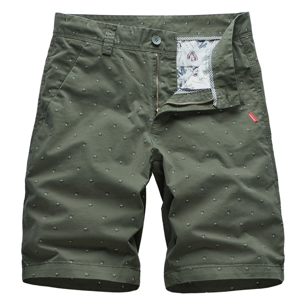 Cargo-Shorts Military Tactical Men's Beach Summer Fit Outdoor Loose Solid-Printing