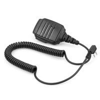 uv 5r uv Talkie Walkie מיקרופון כתף עמיד למים מיקרופון IP54 אוזניות עבור BAOFEGN UV-5R 888S UV82 UV8D Kenwood מחט כפול (2)