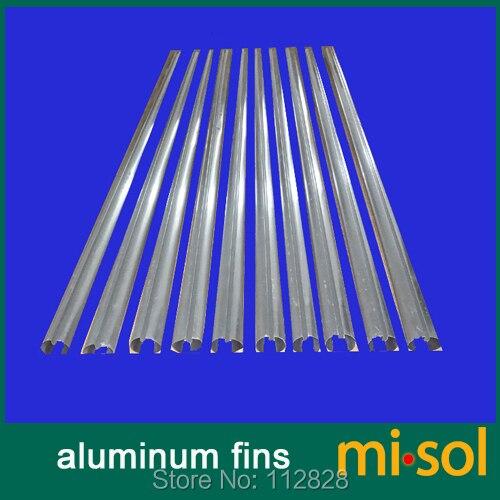 10 pièces beaucoup d'ailettes en aluminium pour tubes en verre (58mm * 1800mm), pour chauffe-eau solaire