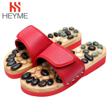 HEYME галька массажные тапочки для стоп Рефлексология ног пожилых иглоукалывание обувь ортопедическая Босоножки, шлепанцы оздоровительный массажер A