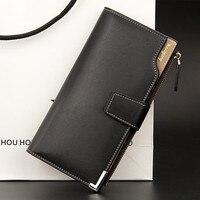 Hot Sale Quality Soft Leather Men Wallets Business Leisure 3 Folds Hasp Zipper Credit Card Holder