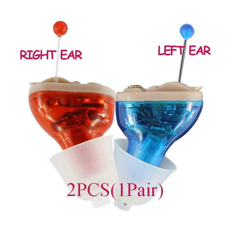 2 pz FDA del CE Piccolo Orecchio interno Invisible hearing aid Best Mini Dispositivo Hearing Aids Amplificazione Del Suono Regolabile Dropshipping