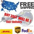 Brasileira Onda Do Corpo Do Cabelo Virgem Taxa de Envio DHL UPS FEDEX para EUA/Europeu