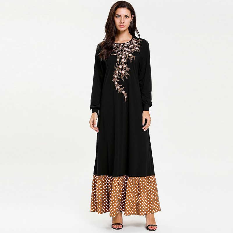 Vestidos 2019 кафтан Абаи Дубай мусульманский кафтан платье хиджаб Для женщин одеяние мусульмане Longue Турции Elbise турецкая исламская Костюмы