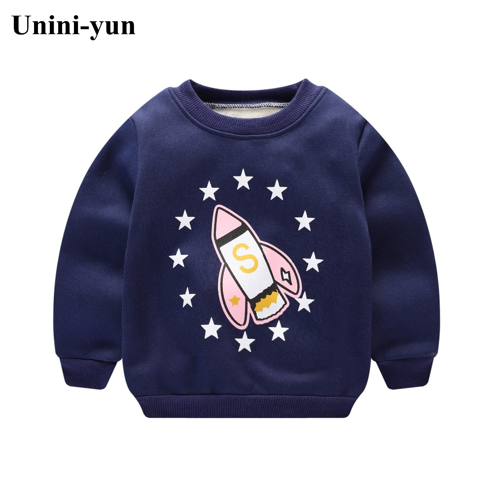 Winter Cute Kids Baby Long Sleeve Sweatshirt Tops O-Neck Cartoon Bear Casual Pullover Thicken Cotton Warm Boys Girls Hoodies