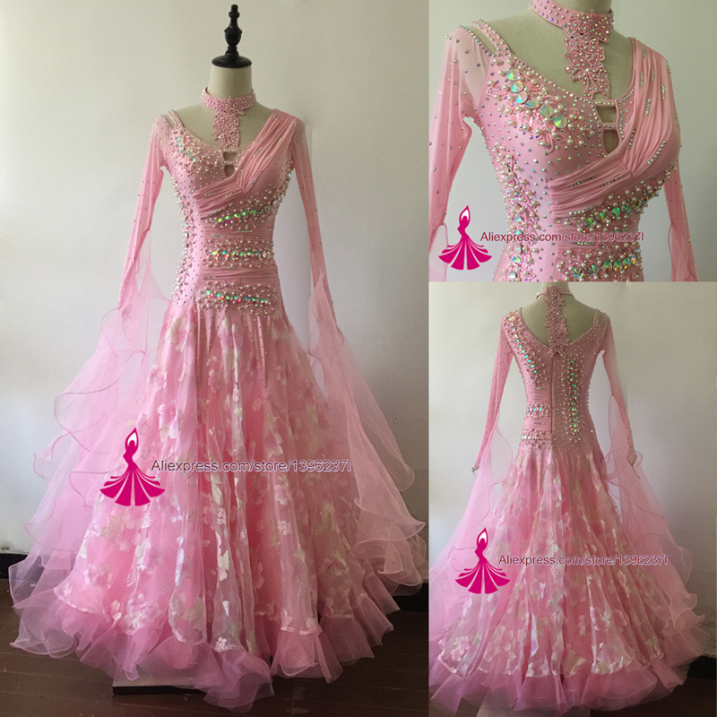 Ballroom Waltz Dance Dresses For Lady 2019 New Design Tango Competition Dancing Wear Women Standard Ballroom Dance Dress