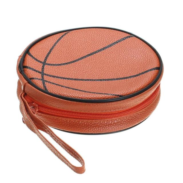 Portable 24pcs CD DVD Storage Case Bags Basket Ball Pattern Leather Disc  Holder Organizer Cases Wallet