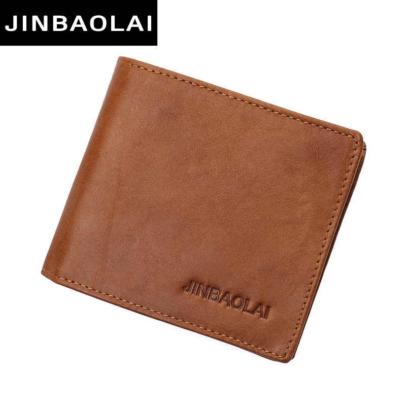 100% genuine leather mens wallet premium product real cowhide wallets for man short brown wallet portefeuille homme walet purses