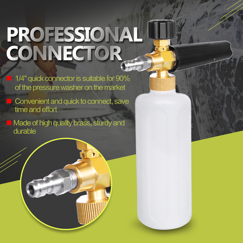 Car-Styling Foam gun car wash Pressure Washer Jet Wash 1/4 Quick Release Adjustable Snow Foam Lance Foam Cannon tools